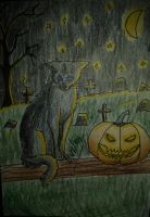 ACEO- Halloween by Narncolie