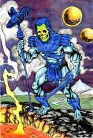 Skeletor on Snake Mountain by danbrenus