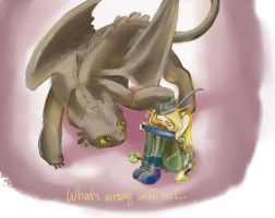 HTTYD2: Toothless and Ruffnut by nekator
