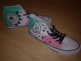 Blink-182 Custom Hi-tops by EternusNexxx