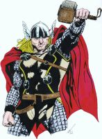 Mighty Thor  (inked) by salt25