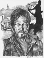 The Walking Dead - Daryl Dixon portrait by dottcrudele