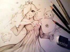 Rosalina DRAWING VIDEO by Naschi