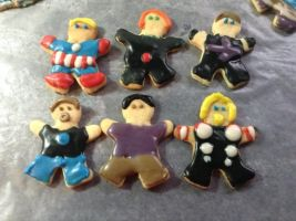 Avengers cookies!! by ArcherVale