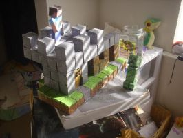 minecraft papercraft WIP by raineth5