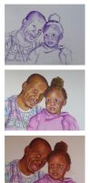 Father and Daughter WiPs by AnnMarieBone
