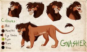 Character Design Sheet: GNASHER by X-Zelfa