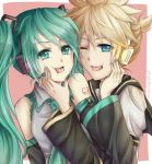 Len x Miku: You're the Kiss in the Rain by Yubi-Yubi