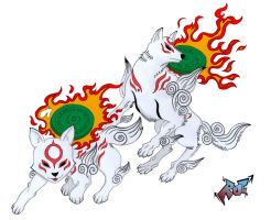 Amaterasu~Chibi Amaterasu Colored by Rueprez