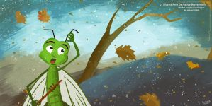 The Ant and the Grasshopper   An Aesop Fable by eydii
