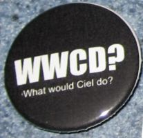 'What would Ciel do?' button? by BlackUnicornWood