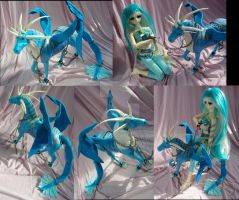 Aquarius, custom dragon from Breyer horse by LightningSilver-Mana