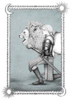 Brienne of Tarth with Lion by Clothospindle