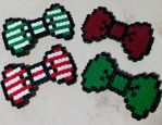 Perler Hair Bows by prismaticpearls