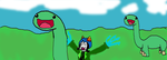 nepeta meets dinosaurs!! by KillerD223