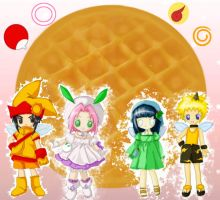 ninja fairies and a waffle by 1amm1