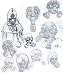 gas mask skechs by PSYCHO-RAY-MAN