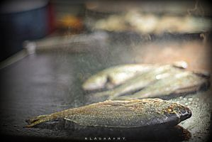 Fried fish fresh from the market by alahay