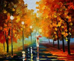 Autumn Rain by Leonidafremov