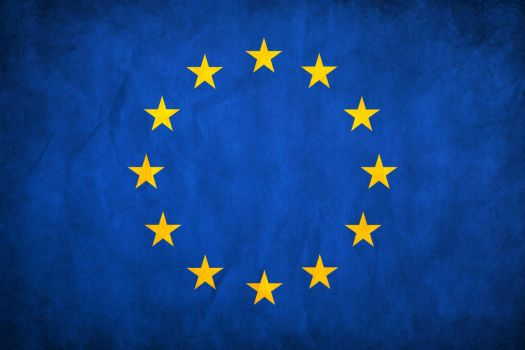 European Union Grunge Flag by think0