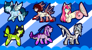 Sea Pony Adopts by LovelessKia