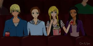 Kum Brittana Double Date by lemonpie-art
