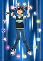 PKMN V - Ash and the Multitype by Blue90