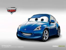 Disney Cars-Nissan 370z by yasiddesign