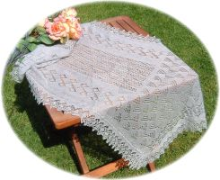 1-ply lace shawl by buttercupminiatures