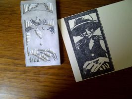 one piece - rubber stamp by dunkleLamm