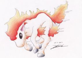 077 Ponyta by Hamii