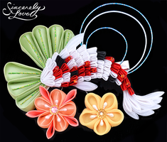 Flower Koi Pond Kanzashi by SincerelyLove