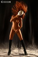 White Mask - Red Hair by Carnisch