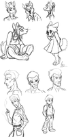 Character Sketches by MeecesMikMouse