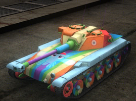 Rainbow Dash ELC AMX skin for World of Tanks by Pros3k