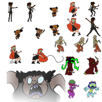 Battle sprites frum another game I'm making by EggHeadCheesyBird