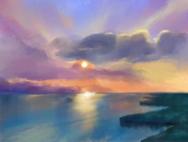 Seascape Practice by a-k-i-r-e