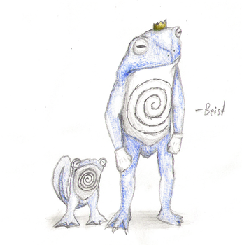 Poliwag and Poliwrath by beistraxis