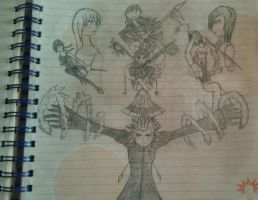 The Girl and the Keyblade II cover promo sketch by snowcloud8