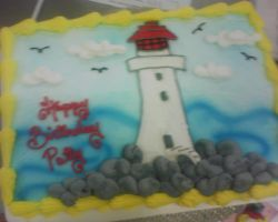 light house cake by nlpassions