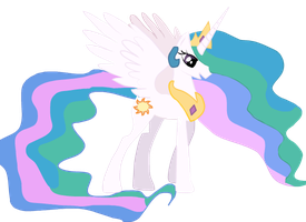 Celestia drawn with illustrator! by 9mmBrony