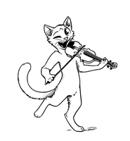 Cat and the Fiddle t-shirt by Feline-Basilisk