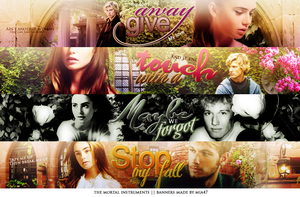 the mortal instruments BANNERS by mia47