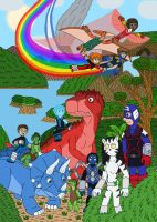 Teen Avengers in the Savage Land by MCsaurus