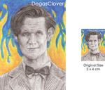 Eleventh Doctor - Pencil Mini Portrait by DegasClover