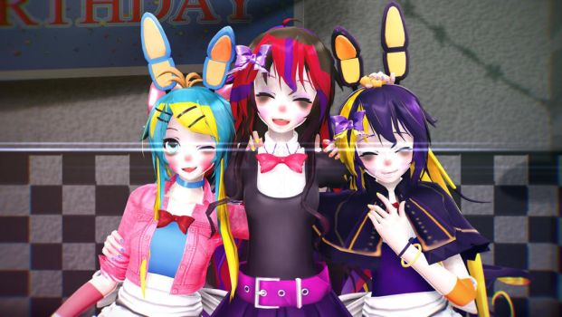 ||[MMD/MikuMikuDance]||Besties||Gift for Sharm|| by Lonely-Insanity