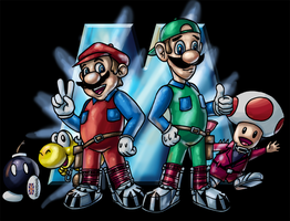 We handle this like Marios... by Inkmonkey-Woodis