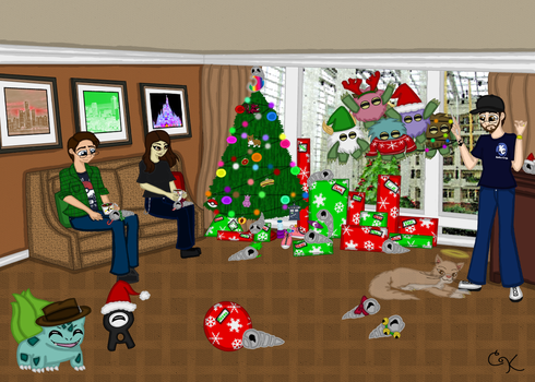 Commission- Dodger Christmas Card 2014 by TNBCCBARTIST247