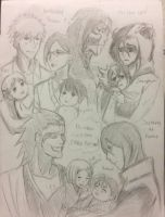 Bleach Families (sketch) by deadvampire32