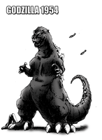 Godzilla 1954 for ~Movie-Man (Finished) by kaijugroupie84